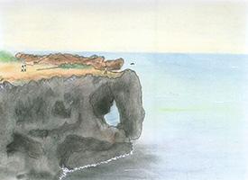 沖縄税務署長時代に部下からいただいた風景画